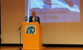 Kurikan Reserviläiset ry 60 vuotta – Juhlapuhujana Reserviläisliiton puheenjohtaja Ilpo Pohjola